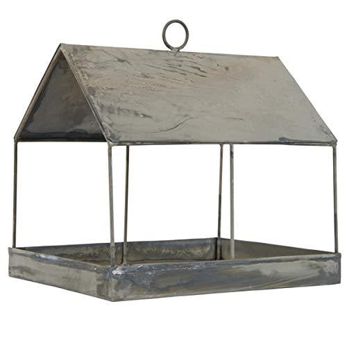 IB Laursen - Vogelhaus, Vogelfutterhaus - Zink Grau - Metal - Maße (LxBxH): 22,5 x 18 x 23 cm