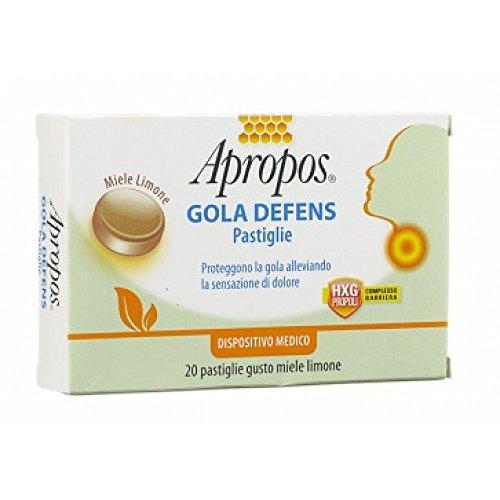 Desa Pharma 14779 Apropos Gola Defens, Gusto Miele e Limone, 20 Pastiglie