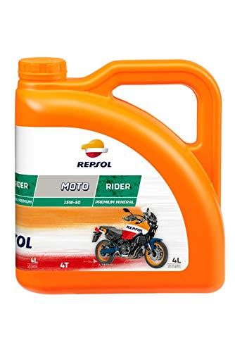 REPSOL Moto Rider 4T 15W-50 Aceite De Motor Para Moto, 4l