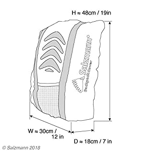 414pRgUMCTL. SS300  - Salzmann 3M Cubierta de Mochila Reflectante | Alta Visibilidad, Impermeable | Equipada con 3M Scotchlite