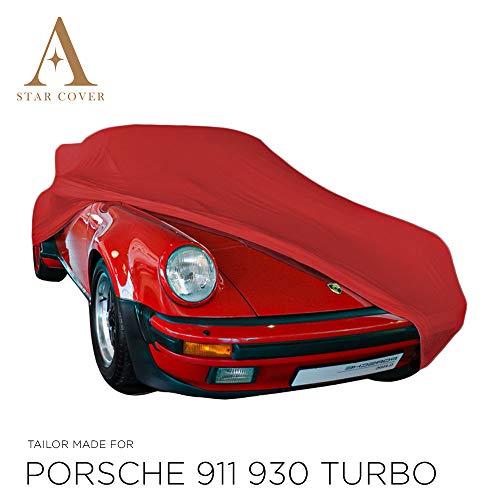 AUTOABDECKUNG ROT PASSEND FÜR Porsche 911 Turbo (930) GANZGARAGE INNEN SCHUTZHÜLLE ABDECKPLANE SCHUTZDECKE Cover