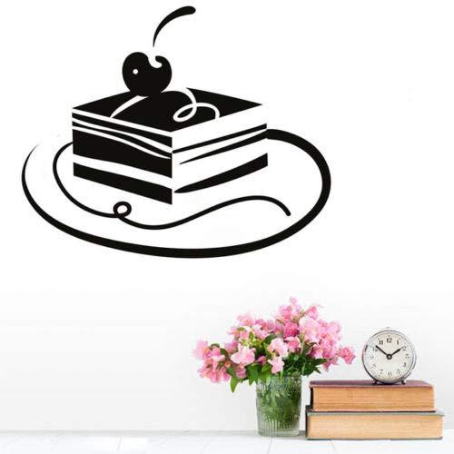 Tianpengyuanshuai vinyl dessert decoratie huis muursticker plaats cake kersen wanddecoratie behang