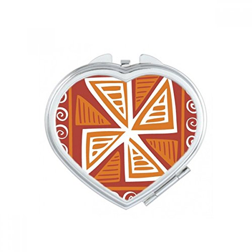 DIYthinker bruin molen Mexico Totems oude beschaving tekenen hart compacte make-up zak spiegel draagbare schattige kleine hand spiegels geschenk