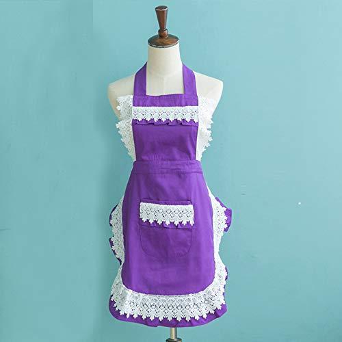 YXDZ Mode Doppelschürze Küche Kochen Kochen Taille Prinzessin Overalls Haushalt Arbeitskleidung