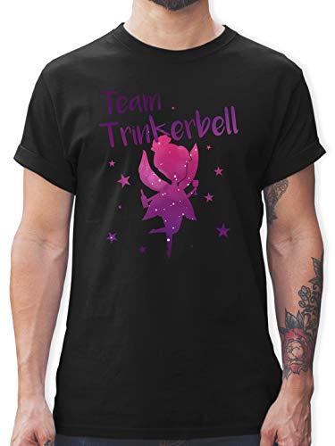 Karneval & Fasching - Team Trinkerbell - L - Schwarz - T-Shirt - L190 - Tshirt Herren und Männer T-Shirts