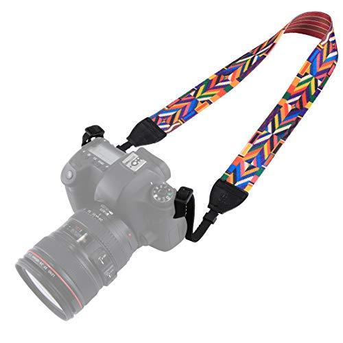 BYbrutek Correa para cámara réflex digital (universal, 150 cm de largo, 3,8 cm de ancho)