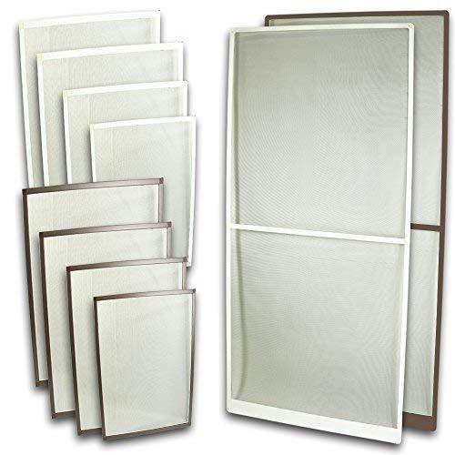 Rapid Teck Fliegennetz Tür Aluminium Rahmen Braun Größe 100cm*210cm Fliegengitter Insektenschutz Gitter Fiberglas