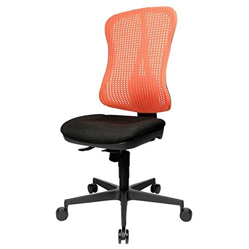 Preisvergleich Produktbild Topstar Bandscheiben-Drehstuhl,  Muldensitz - ohne Armlehnen - Sitz schwarz,  Netz-Rücken rot - Drehstuhl Drehstühle Schreibtischstuhl Schreibtischstühle