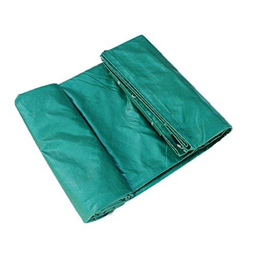 Liangliang Bâche étanche extérieur Haute résistance à la température Fire Prevention imperméable épaissir PVC Polyester Bâche avec métal Trou Eye, 8 Tailles 5 * 7m Green