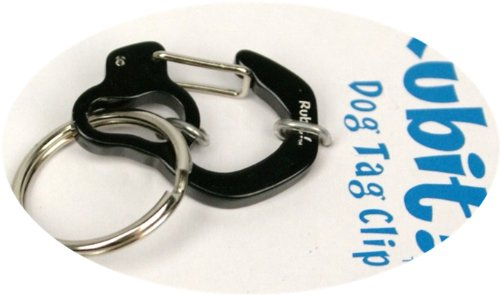 Rubit The Easy Dog Tag Curve Shape Switch Clip, Medium, 1.07-Inch Diameter, Black
