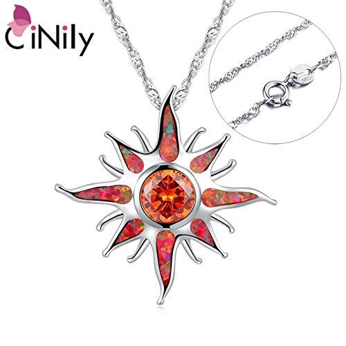Chinelli Star Fire Opal Sun Orange Gioielli Personalizzati Gioielli Sun Charm Gioielli Di Lusso Collana Gratuita