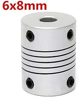 OKIl 6mm x 8mm Aluminum Flexible Shaft Coupling OD19mm x L25mm CNC Stepper Motor Coupler Connector