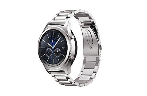 IVSO Cinturino Gear S3 Classic, Watch Band Strap Cinturino Orologio in Acciaio Inossidabile Sostituzione Cinghia di Polso per Samsung Gear S3 Classic, Argento