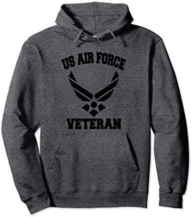 Proud US Air Force Veteran Military Pride Pullover Hoodie product image