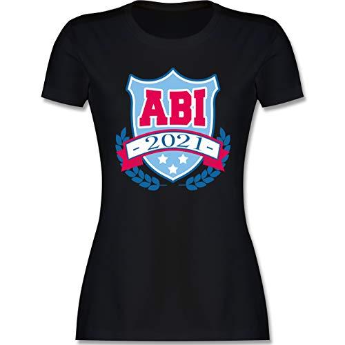 Abi & Abschluss - ABI 2021 Badge - XXL - Schwarz - Fun - L191 - Tailliertes Tshirt für Damen und Frauen T-Shirt