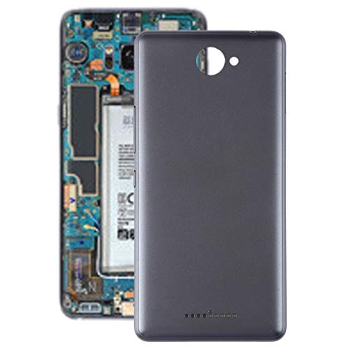 Beilaishi Kit de reparación de teléfono móvil Tapa trasera de batería con teclas laterales para BQ Aquaris U (gris) Pieza de repuesto (color: gris)