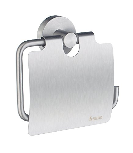 SMEDBO HS3414 Toilettenpapierhalter Home mit Deckel, Messing, silber
