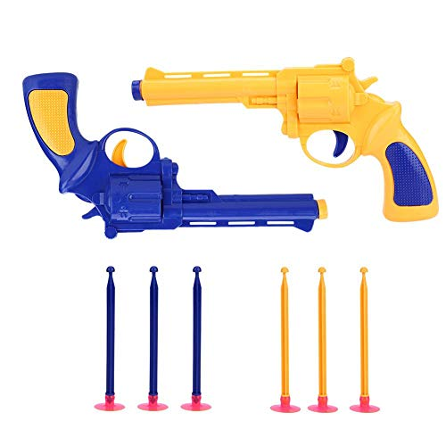 VGEBY Soft Bullet Gun, Children Mini Foam Dart Blasters Safe Sucked Type Scores Darting Board with Soft Throwing Bullet