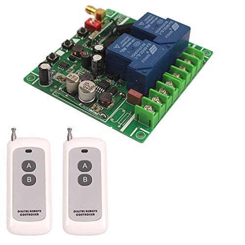 Best Deals! 12V-48V 24V 36V 30V 30A 2CH Wireless Control Switch Electric Motor Garage Door Gate Syst...