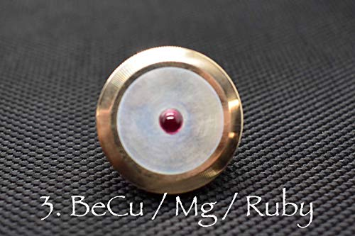 MetonBoss Ruby Series V.2 Beryllium Copper Rotor / Magnesium Stem / Ruby Bearing | Everyday Carry Gear | Precision-Made Tops Desktop Display (Beryllium Copper Rotor / Magnesium Stem / Ruby Bearing)