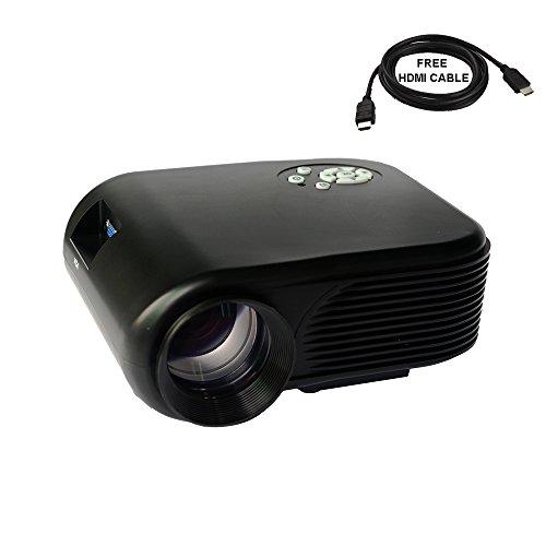 2018 Projector (Warranty Included), XINDA LCD LED Mini Multi-Media Portable Video Projector Game Home Cinema Theater Support HD 1080P HDMI USB SD AV-0036B