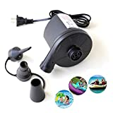 Small Portable Air Pump, 3 Nozzles/bottom Heat Dissipation Window Design Electric Air Pumps For Paddling Pool,...