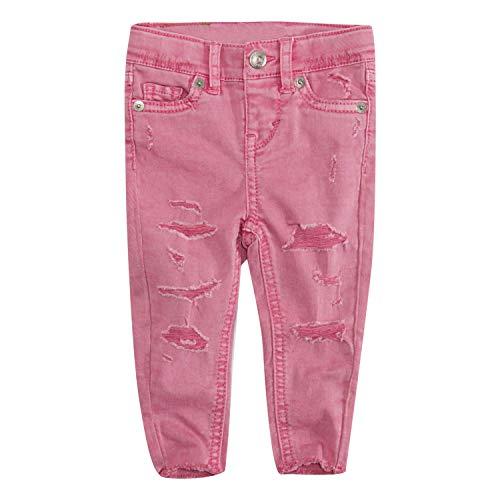 Levi's Baby Girls Super Skinny Fit Jeans, Sachet Pink, 12M