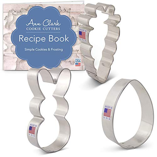 Ann Clark Cookie Cutters 3-Piece Easter Cookie Cutter Set