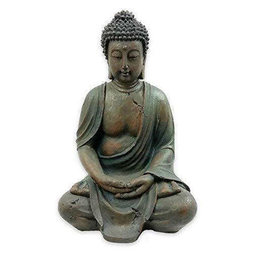 HH Home Hut Garden Ornament Sitting Buddha Zen statue Decoration Ou