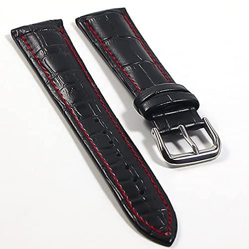 hermosa Relojes de bolsillo para hombres reloj de banda correa de cuero genuino de cuero 18 mm 20 mm de 22 mm reloj de acero con hebilla de banda de banda de banda de banda de pulsera Reloj de reloj d