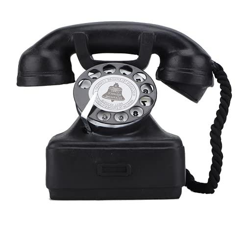 Cuifati Teléfono Antiguo Línea Fija Decoración del hogar Estilo clásico y Elegante Seguro y ecológico Adecuado para Varios Lugares