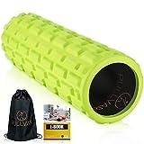 Foam Roller Pilates Attrezzi Rullo Massaggio Muscolare in Schiuma Verde Densità Media Tub...