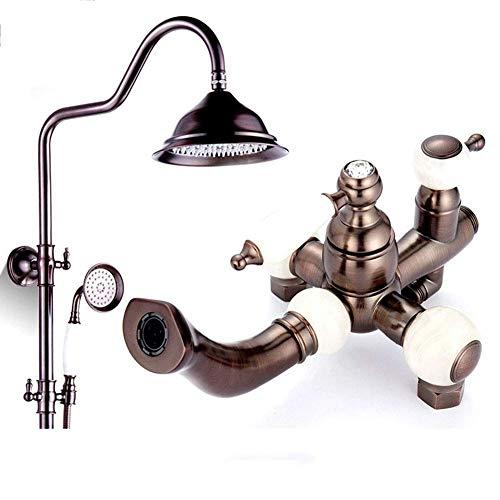 HYY-AA Ducha Sistema, ducha de latón antiguo grifo de cobre o de bronce del Tratamiento superficial antioxidante de ducha for el hogar, oficina, habitaciones, Café, dormitorio, hotel, restaurante, bib