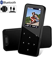 MP3 Player, MP3 Player with Bluetooth, 8GB Music Player with FM Radio, Pedometer for Walking, Build in Speaker Voice Recorder Video Play Photo Viewer E-Book Touch Button and Armband Support up to 32GB photo