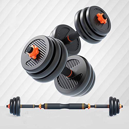 ZJJ Fitness Abnehmbare Hantel für Männer Frauen, verstellbare stumme Hantel mit Pleuel, dünne Arme Gewichtsverlust Bodybuilding Training Sportgeräte,5kgx2