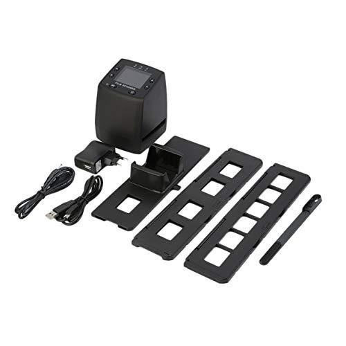 Escáner de alta resolución digital convierte USB negativos diapositivas de escaneado de fotos portátil convertidor de película digital LCD de 2,4 pulgadas - negro