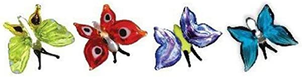 Looking Glass Miniature Collectible Butterflies 4 Pack