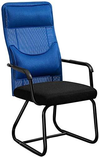 ZHPBHD Bürostuhl Ergonomische Armlehne Rückenlehne Drehbarer Schreibtischstuhl Hochleistungs-Home-Office-Computerstuhl No WheelsExecutive Mesh Chair