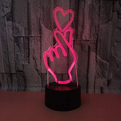 Lámpara Escritorio Lámpara de Mesa romántica luz 3D Que el Amor Toque Creativo Control Remoto LED Dormitorio luz de Noche