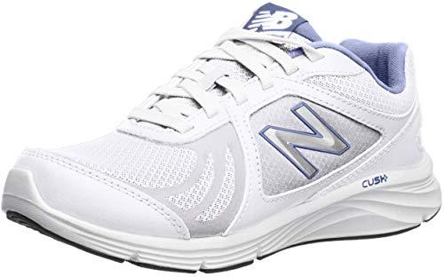 New Balance Women's 496 V3 Walking Shoe, White/Blue, 6 W US