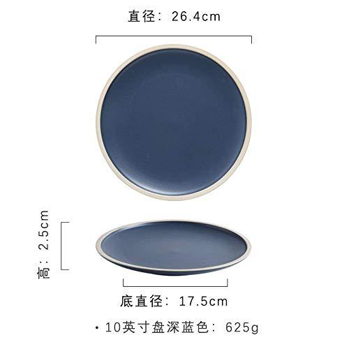 ZGQA-GQA Plate Matt Ceramic Tableware Western Dish Home Dish Plate Salad Plate Steak Plate