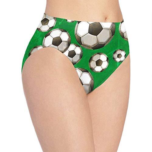 XCNGG Bragas Ropa Interior de Mujer 3D Print Soft Women's Underwear, Soccer Pattern Fashion Flirty Lady'S Panties Briefs XL