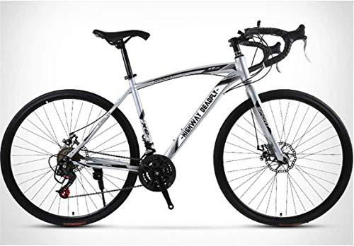 Commuter City Road Bike, Trek route Vélos for hommes, 26 pouces 24 vitesses 30 couteaux vélo, cadre en acier au carbone à haute, Route Double Frein à disque Vélo, Rider Taille 165-185 cm (5.4-6 pieds)