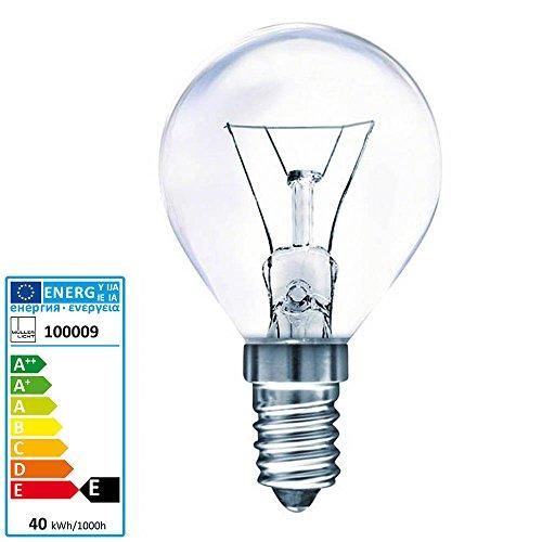 Müller Licht Tropfenlampe Backofen 300 Grad Celsius E14 230 Volt 40 Watt klar