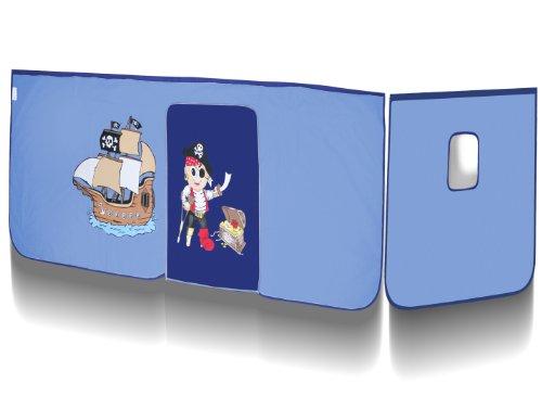 Vorhang Pirat Blau für Hochbett - VH-1039