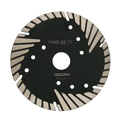 5 Inch Diamond Saw Blade for Concrete Brick Block Granite Stone,Diamond Cutting Disc,with 7/8'(22.23 mm) 4/5'(20 mm) 5/8'(16 mm) Arbor by FINGLEE
