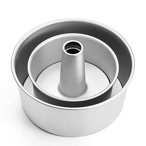 GDGY Kuchenform aus Aluminiumlegierung, rund, hohl, Chiffon, Engel, Lebensmittel, Kuchenform, Backform mit abnehmbarem Boden (15,2 cm)