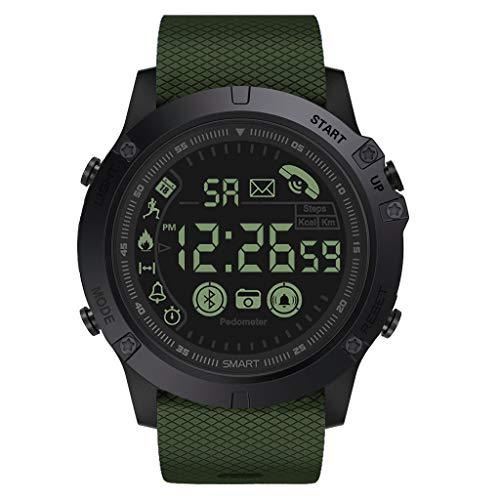 Orologio da Uomo Ultra Sottile Minimalista Lusso Orologi da Polso per Uomo attività Ammiraglia Rugged Smartwatch 33-Mese Standby Tempo di Attesa 24H Monitoraggio Tutto Il Tempo (Verde dell Esercito)
