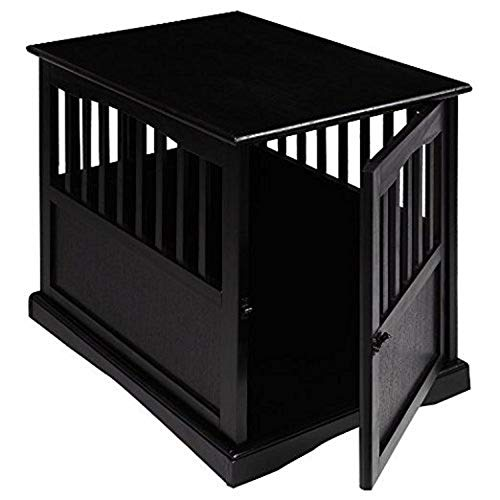 Wooden Furniture Pet Crate, Color Black (Large, Black) by Casual Home Crates Dog Houses Pens Supplies Top