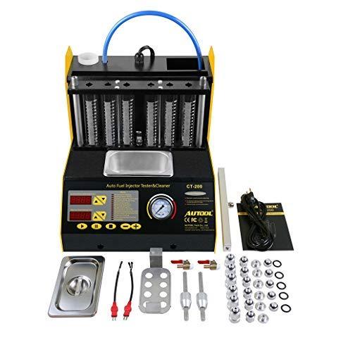 BELEY AUTOOL CT-200 Auto Motorfiets Benzine Brandstof Injector Ultrasone Cleaner en Injectie Tester voor Auto 6-Cilinder